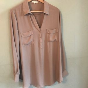 Nordstrom Pleione taupe XL blouse